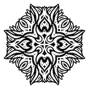 Illustration de tatouage tribal beau vecteur avec motif noir abstrait isolé sur fond blanc