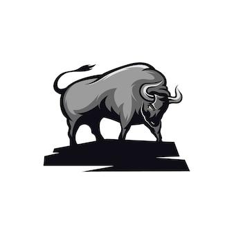 Illustration de taureau furieux