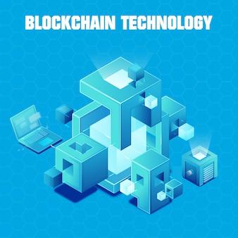 Illustration de la technologie blockchain