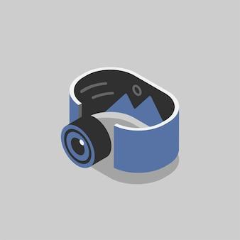Illustration de la technologie holographique
