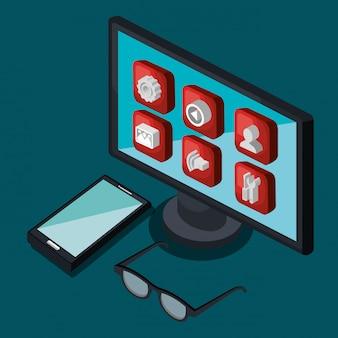 Illustration de la technologie moderne