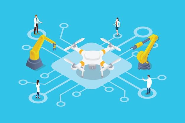 Illustration de la technologie de recherche de drones