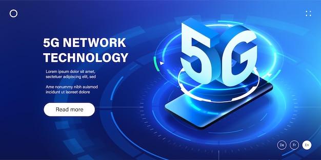 Illustration de la technologie sans fil du réseau 5g