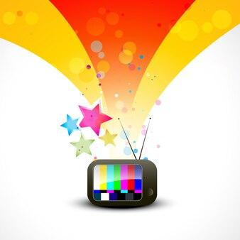 Illustration télé couleur