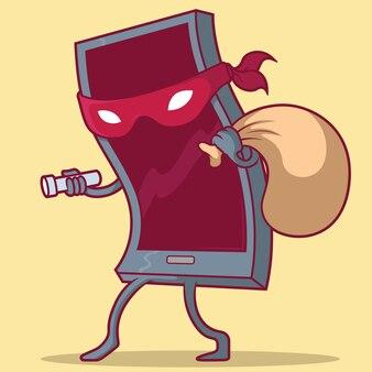 Illustration de téléphone cambrioleur