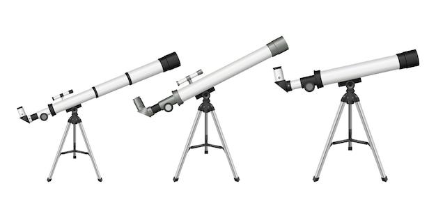 Illustration de télescope isolé sur fond blanc