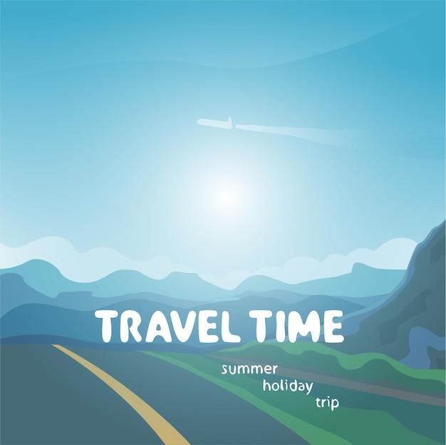 Illustration de temps de voyage,