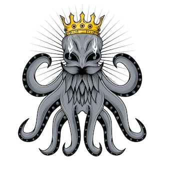 Illustration de tentacule de poulpe roi