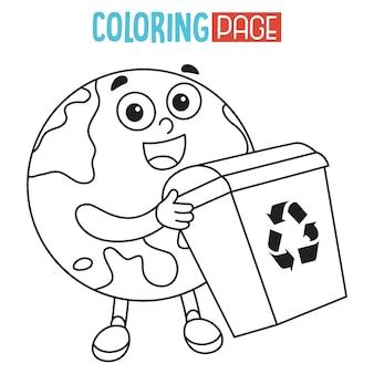 Illustration de la terre coloriage