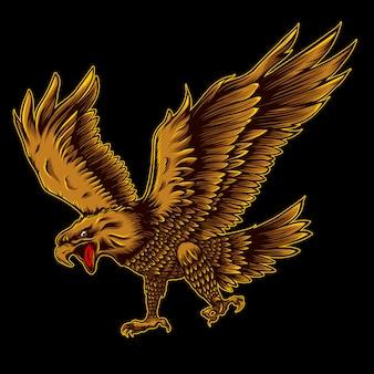 L'illustration de la tête d'aigle