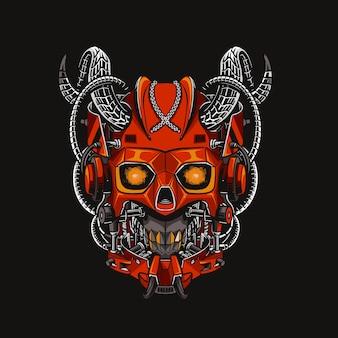 Illustration de la tête de casque gundam mecha