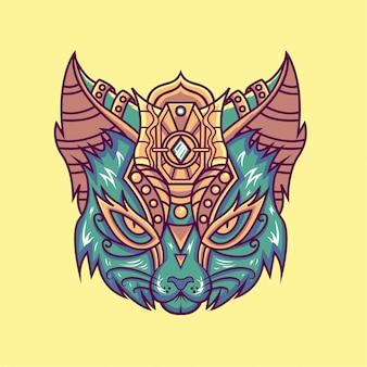 Illustration tête de chat
