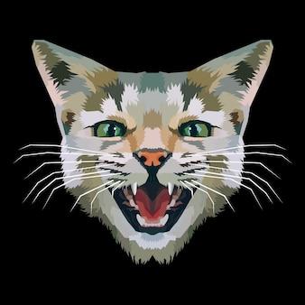 Illustration de tête de chat