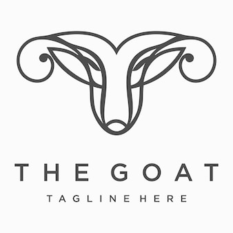 Illustration de tête de chèvre