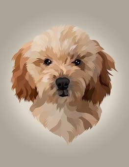 Illustration tête de chien réaliste