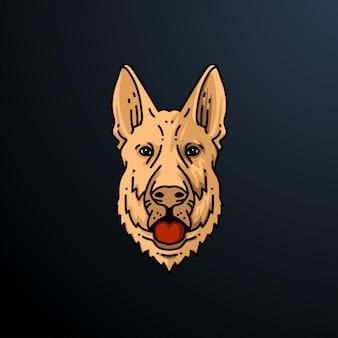 Illustration de tête de chien
