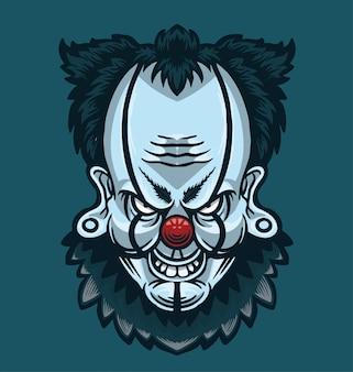 Illustration de tête de clown