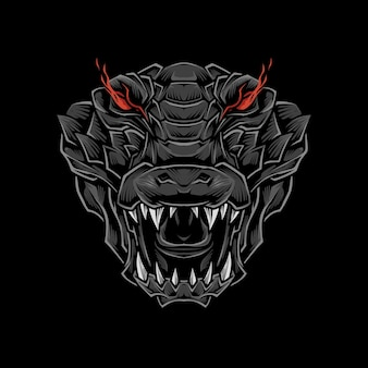 Illustration de tête de crocodile