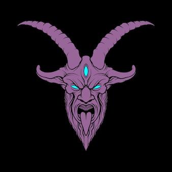 Illustration de tête de démon