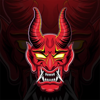 Illustration de tête de diable