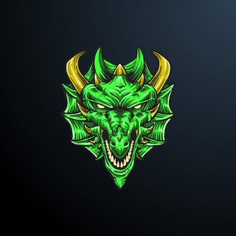 Illustration tête de dragon