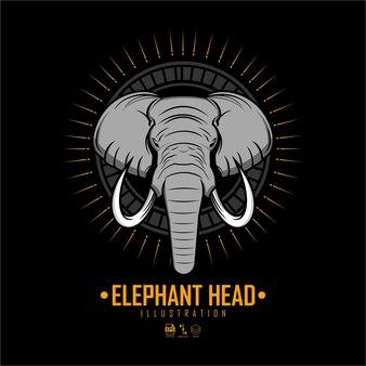 Illustration de la tête d'éléphant