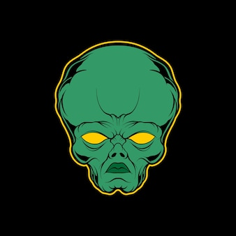 Illustration de tête extraterrestre