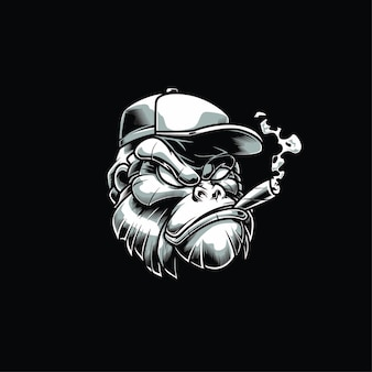 Illustration de la tête de gorille