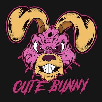 Illustration de tête de lapin