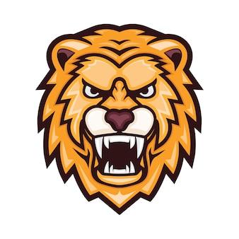 Illustration de tête de lion