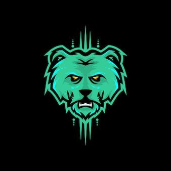 Illustration tête d'ours