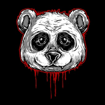 Illustration tête panda