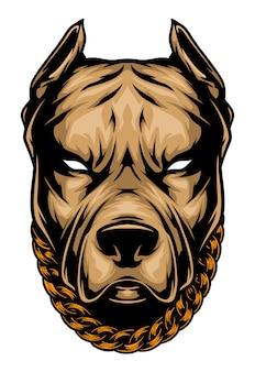 Illustration de tête de pit-bull