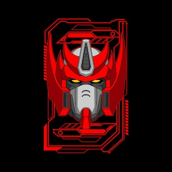Illustration de tête de robot roi