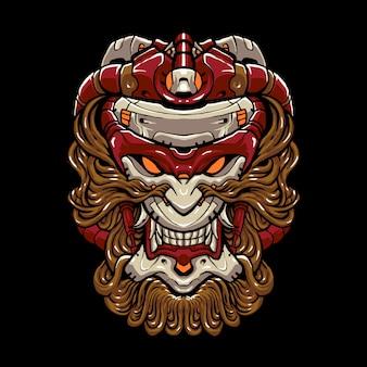 Illustration de tête de singe cyber