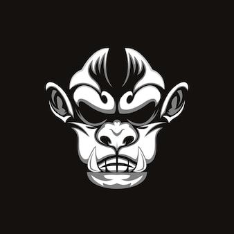 Illustration tête de singe