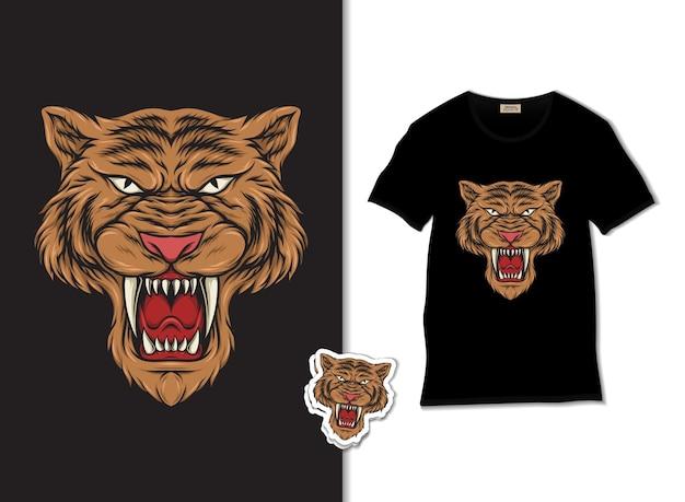 L'illustration de la tête de tigre