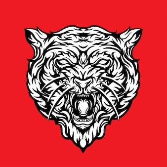 Illustration tête de tigre