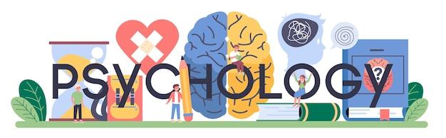 Illustration d'en-tête typographique de psychologie