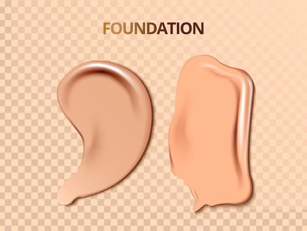 Illustration de texture crème de fondation
