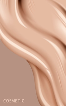 Illustration de texture liquide de fondation
