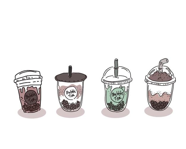 Illustration de thé à bulles