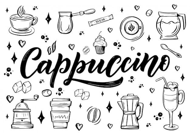 Illustration de thème cappuccino