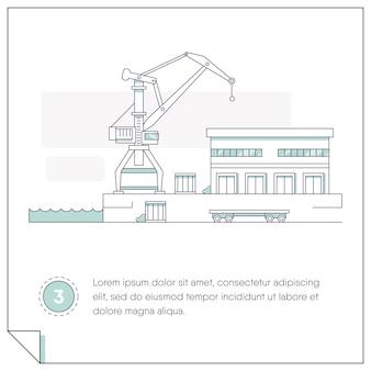 Illustration sur le thème de la construction et de la logistique