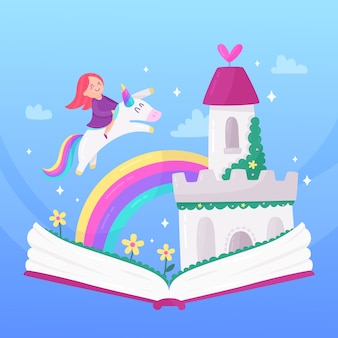 Illustration avec thème de conte de fées