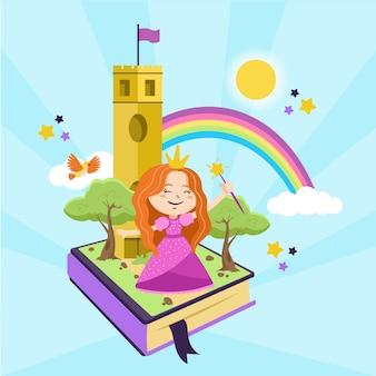 Illustration avec le thème du concept de conte de fées