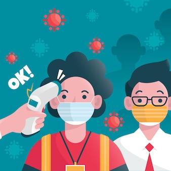 Illustration avec le thème du contrôle de la température corporelle