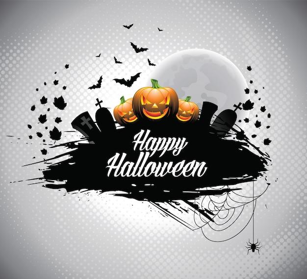 Illustration sur un thème d'halloween