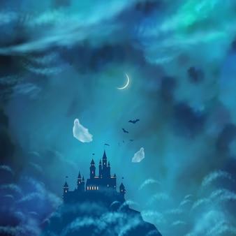 Illustration sur le thème d'halloween