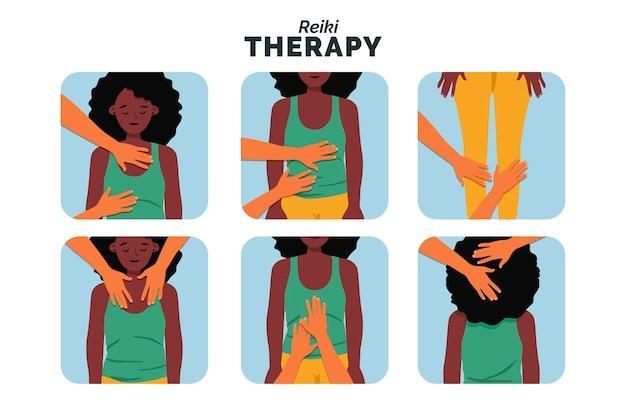 Illustration de la thérapie reiki